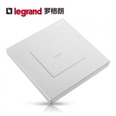 鑫源灯饰罗格朗开关插座面板仕典白色一开双控带LED纯平复位墙壁电源86型