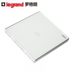 鑫源灯饰罗格朗开关插座面板仕典白色一位触摸感应带LED纯平墙壁电源86型