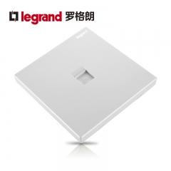 鑫源灯饰罗格朗开关插座面板仕典白色逸景一位单电脑网络六类 强信号86型