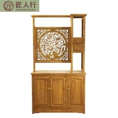 匠人行仿古实木家具屏风隔断柜GYX-GDG-001 图片色 实木 可定制 定金