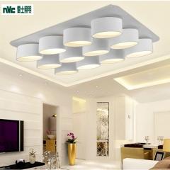 祥发灯饰 雷士照明 LED吸顶灯长方形客厅灯卧室灯大气智能现代简约创意个性
