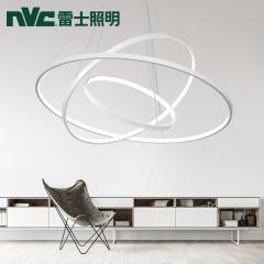 祥发灯饰 雷士照明设计师新品创意吊灯北欧灯具铁艺吧客厅餐厅代环形吊灯