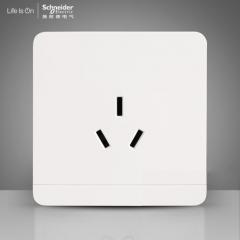 施耐德电气 三孔插座空调电源墙壁开关插座面板16A 绎尚镜瓷白 咨询客服