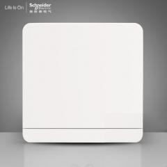 施耐德电气 一位单开单联双控 电源插座开关面板16A 绎尚镜瓷白 咨询客服