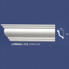 靓点石膏背景墙装饰线条雕花线条素面角线平线LH6034-113