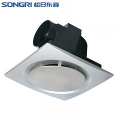 上海松日8寸集成吊顶换气扇 卫生间厕所排气扇不锈钢面厨房排风扇
