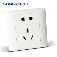 上海松日开关插座16A五孔插座 16A五孔空调插座 10A二孔加16A三孔