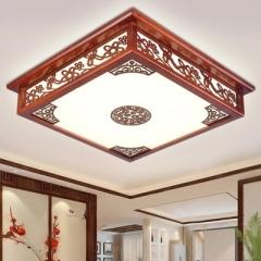 御宝轩 现代中式温馨卧室吸顶灯长方形led客厅灯简约大气家用亚克力灯具