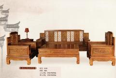 新森林木业仿古家具唐式沙发五件套S-018 图片色 实木 可定制 定金
