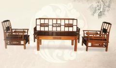 新森林木业仿古家具喜鹊闹梅五件套S-021 图片色 实木 可定制 定金