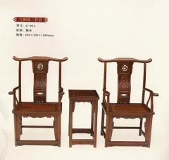 新森林木业仿古家具官帽椅三件套G-016 图片色 实木 可定制 定金