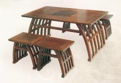 新森林木业仿古家具茶台五件套C-011 图片色 实木 可定制 定金