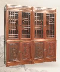 新森林木业仿古家具S型书柜S-016 图片色 实木 可定制 定金