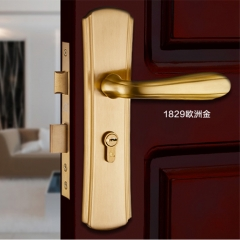 三环现代简约纯铜门锁室内静音房门实木门锁卧室房门锁SHCT-1829 SHCT-1829AH咖啡古