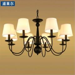 浦莱尔照明美式乡村铁艺吊灯客厅灯欧式卧室餐厅灯具简约现代田园复古灯饰