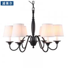 浦莱尔照明欧式田园复古书房卧室客厅简约铁艺灯具 美式乡村吊灯