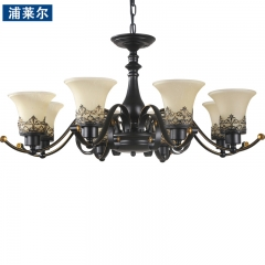 浦莱尔照明美式乡村客厅吊灯双层复式楼别墅欧式复古餐厅卧室灯具