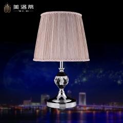 嘉美照明-美洛蒂简约欧式铁艺台灯简欧时尚卧室床头柜水晶装饰台灯明珠8122