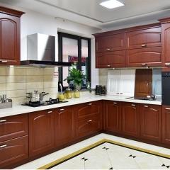 好年华定制实木厨房厨柜装修全屋定制 美式复古进口吸塑模压门板 咨询客服 定金