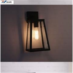 美式创意工业复古壁灯酒吧咖啡店阳台玻璃箱墙壁灯