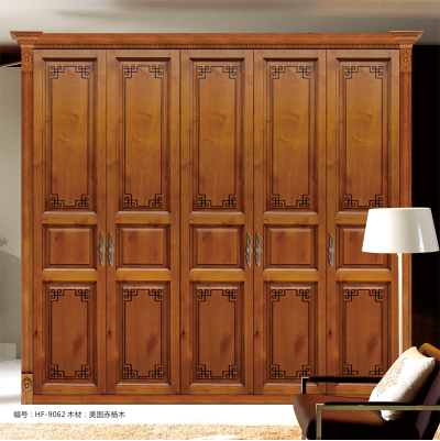 惠丰衣柜HF-9062实木衣柜现代新中式实木卧室家具 图片色