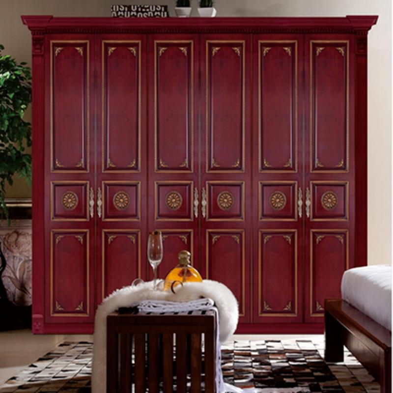 惠丰衣柜HF-9038实木衣柜现代新中式实木卧室家具 棕色