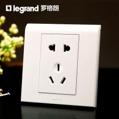 罗格朗开关插座面板K5经典白 二三插5五孔插座 墙壁电源插座86型 白色