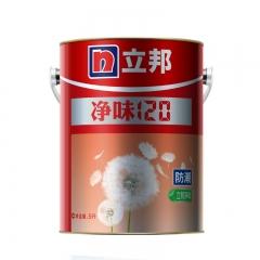 豪美家立邦漆 净味120防潮易擦洗乳胶漆水漆白色内墙面漆油漆涂料5L