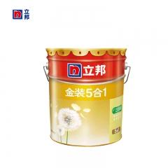豪美家立邦漆 金装净味五合一乳胶漆 内墙面漆水漆油漆涂料 刷墙漆18L