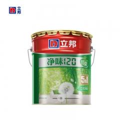 豪美家立邦漆 净味120竹炭五合一室内油漆涂料 白色内墙墙面漆乳胶漆15L