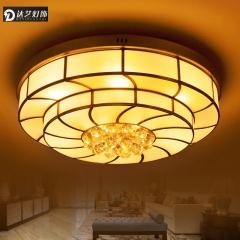 达艺灯饰LED欧式吸顶灯美式全铜灯客厅卧室灯饰餐厅阳台灯具水晶铜灯婚房
