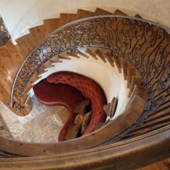 心韵楼梯古典风格螺旋实木楼梯 图片色 咨询客服 定制尺寸