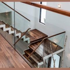 心韵楼梯玻璃楼梯扶手透明转角楼梯 图片色 咨询客服 定制尺寸