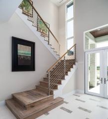 心韵楼梯双跑楼梯 图片色 材质+尺寸 咨询客服 定金