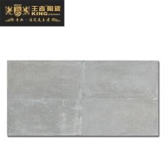 王者陶瓷防滑耐磨瓷砖客厅厨房阳台地砖现代仿古砖卡纳布纹W-GN-KF126H2JA027 600mm