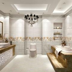 摇钱树陶瓷厨房卫生间浴室墙砖简约现代瓷片H-36012上墙/H2-36012下墙 300x600mm
