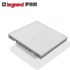 罗格朗开关插座面板仕典白色二位触摸感应带LED纯平墙壁电源86型