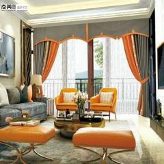 尚美墙纸定制窗帘现代时尚简约卧室客厅阳台 每米