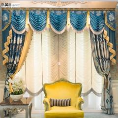 尚美墙纸欧式窗帘美式窗纱高档成品遮光布料豪华奢华客厅卧室 每米