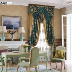 尚美墙纸奢华欧式别墅会所遮光窗帘定制成品客厅卧室书房大厅奢华大气 每米