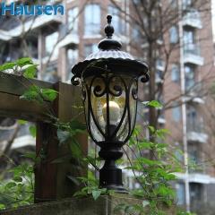 欧司朗照明皓森照明欧式户外柱头灯室外防水庭院灯景观灯围墙灯花园别墅墙头灯门柱灯