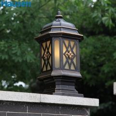 欧司朗照明皓森照明柱头灯墙头灯欧式户外防水柱头灯防水庭院明清古典户外灯具墙灯