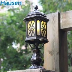 欧司朗照明皓森照明新款欧式户外柱头灯墙头灯门柱灯明清古典柱灯四方柱灯铝