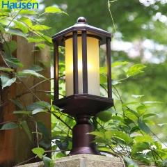 欧司朗照明皓森照明现代简约美式 室外柱头灯 户外墙头灯围墙灯庭院大门立柱灯柱灯铝