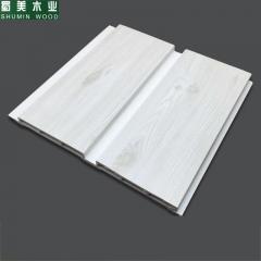 蜀美木业 生态木97长城板pvc环保扣板绿可木塑料材质背景墙裙护墙板 定金