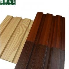 蜀美木业 生态木195覆膜大长城板内外护墙板墙裙背景墙仿真木纹吊顶材料板 定金
