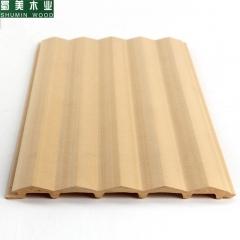 蜀美木业 生态木长城板浮雕板150三角板木阳台吊顶墙裙装饰材料护墙板 定金