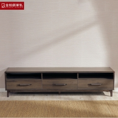 金柏居家私电视柜简约现代卧室北欧实木板木小户型电视机柜地