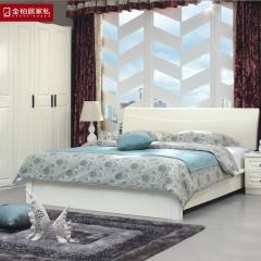 金柏居家私现代简约北欧风格家具 实木床 坂木床1.8米双人床