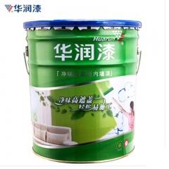 华润漆(Huarun)内墙乳胶漆净味高遮盖墙面漆 防水环保白色 油漆涂料18L 定金